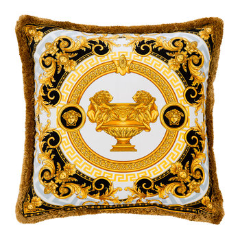 La Coupe Des Dieux Cushion - 45x45cm - Grey/White/Gold