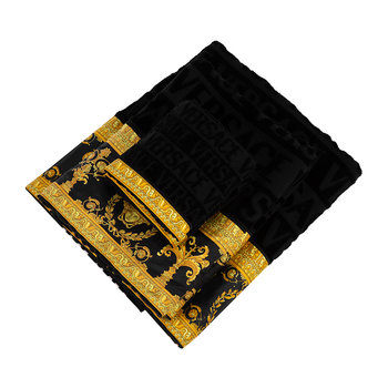 I Love Baroque Bath Towels - Set of 5 - Black