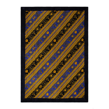 I Love Baroque Beach Towel - Black/Blue/Gold