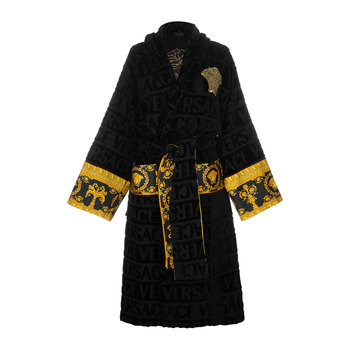 Barocco&Robe Bathrobe - Black/Gold/Bronze