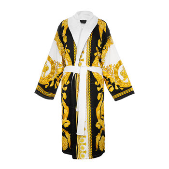 Barocco&Robe Bathrobe - Gold/White/Black