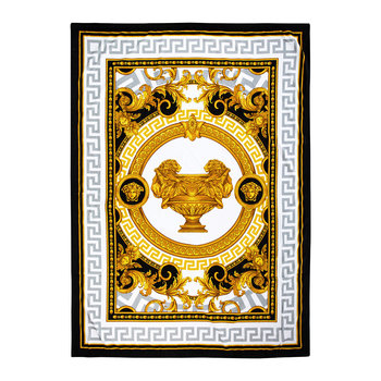 I Love Baroque Bath Towel - Gold/White/Black
