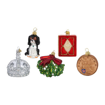 Little Victoria 200 Years Tree Decoration - Set of 5