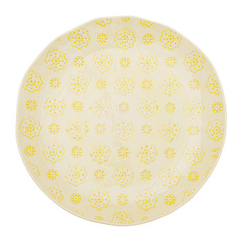 Yellow Lace Dinner Plate