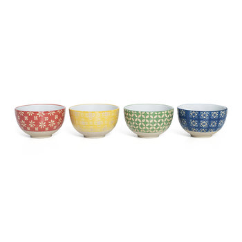 Patterned Tapas Bowl - Set of 4 - Multicolour