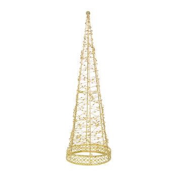 Wire Wrapping Cone Ornament - Gold