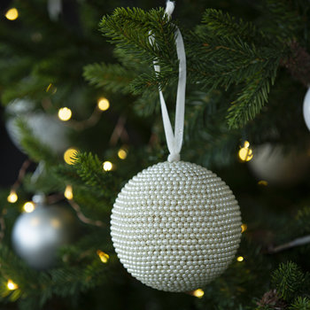 Pearl Beaded Large Bauble - Set of 2