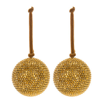 Jeweled Bauble - Set of 2 - Dark Gold