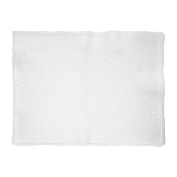 Romantica Bath Mat - 60 x 70cm - White