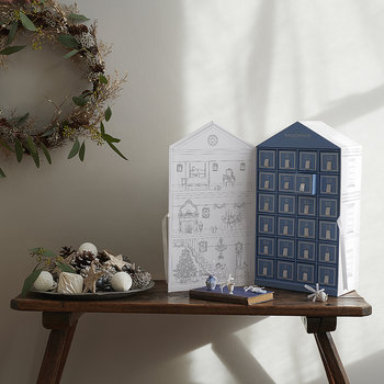 Advent Calendar House with Miniature Charms