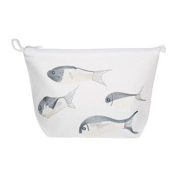 Fish Cosmetic Bag - White