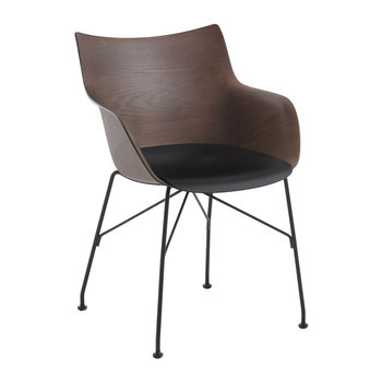 Q/Wood Armchair - Dark Wood/Black