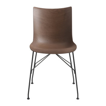 P/Wood Armchair - Dark Wood/Black