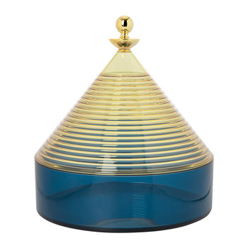 Trullo Storage Pot - Yellow/Blue