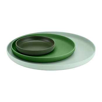 Morris Tray Set - Set of 3 - Green