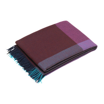 Colour Block Blanket - Blue/Bordeaux