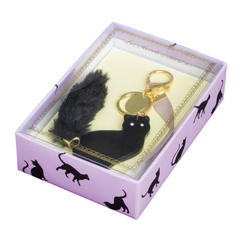 Lovely Cat Keyring - Black