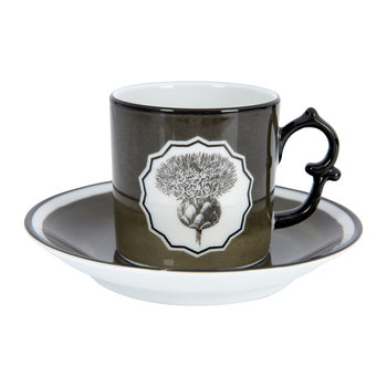 Herbariae Coffee Cup and Saucer - Set of 2