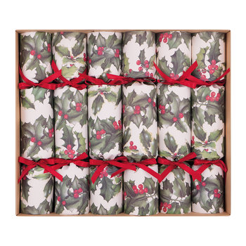 Holly Christmas Cracker - Set of 6