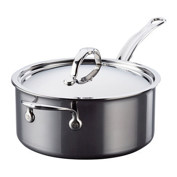 Stainless Steel Saucepan & Lid with Handles - 22cm