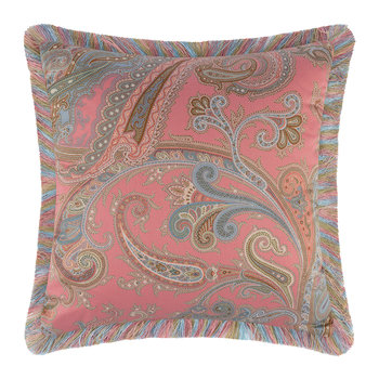 Poitiers Boivre Pillow with Trims - 45x45cm - Pink