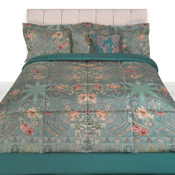 Poiters Clain Quilted Bedspread - Teal