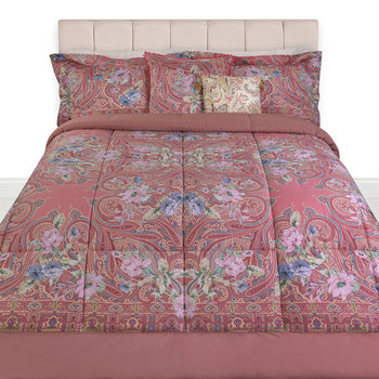 Poiters Clain Quilted Bedspread - Coral