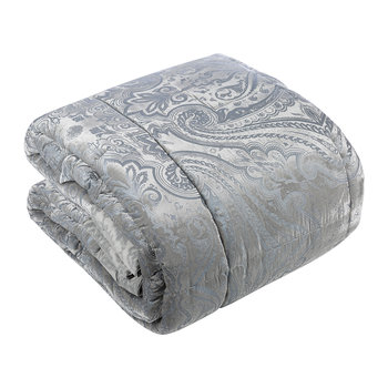 Hokkaido Akan Quilted Bedspread - Gray/Silver