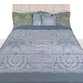 Hokkaido Oki Quilted Bedspread - Gray/Silver