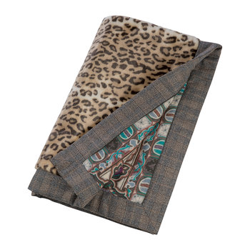 Exeter Dartmoor Fake Fur Bedspread - Leopard/Multicolor