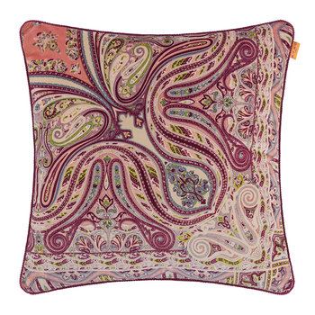 Poitier Monory Pillow with Cord - 60x60cm - Red