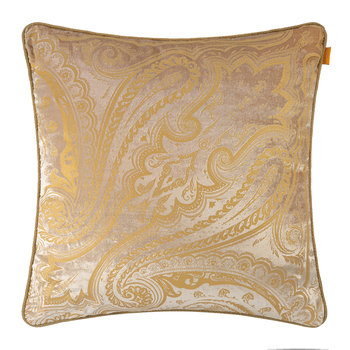 Hokkaido Akan Pillow with Cord - 60x60cm - Beige/Gold