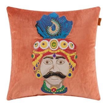 Juzcar Hornos Embroidered Pillow - 45x45cm - Orange