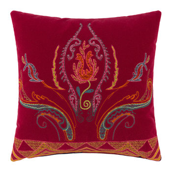 Coussin Brodé Juzcar Andalusia - 45x45cm - Rouge