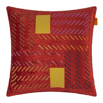 Riolto San Zaccaria Embroidered Pillow - 45x45cm - Red