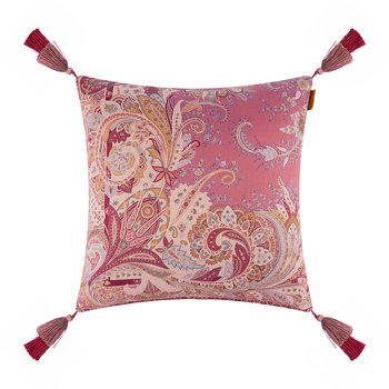 Rialto Murano Cushion with Tassels - 45x45cm - Coral