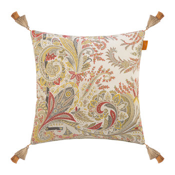 Rialto Murano Cushion with Tassels - 45x45cm - Beige