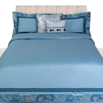 Rialto Spinalonga Quilt Set - Super King - Blue
