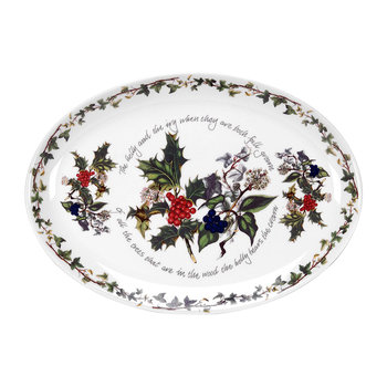 The Holly & The Ivy Oval Platter