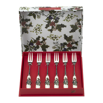 The Holly & The Ivy Pastry Fork - Set of 6
