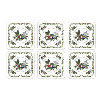 The Holly & The Ivy Coasters - Set of 6