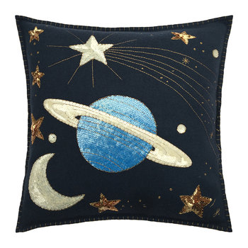 Saturn and Stars Cushion - 46x46cm