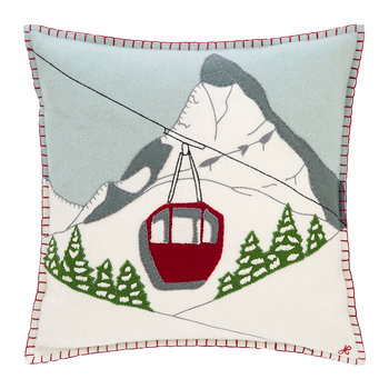Alpine Cable Car Pillow