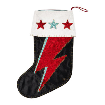 Sequin Velvet Ziggy Stocking