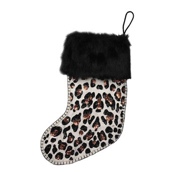 Sequin Leopard Stocking