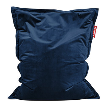 The Original Slim Velvet Bean Bag - Dark Blue