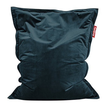 The Original Slim Velvet Bean Bag - Petrol