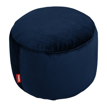 The Point Velvet Pouf - Dark Blue