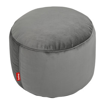The Point Velvet Pouf - Taupe