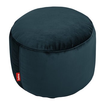 The Point Velvet Pouf - Petrol